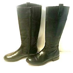 "🔥Lauren by Ralph Lauren 15"" Black Boots size 6.5M"